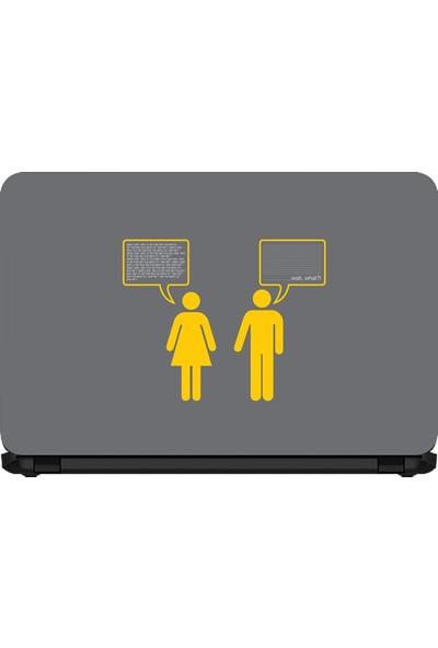 15.6 INC Notebook Sticker Konuşan 1 Kadın 1 Erkek