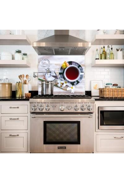 Kokmaz Bulaşmaz Silinebilinir Mutfak Çay Saati Sticker 58 x 52 cm