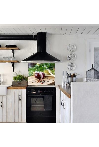 Kokmaz Bulaşmaz Silinebilinir Mutfak Soğanlar Sticker 58 x 52 cm