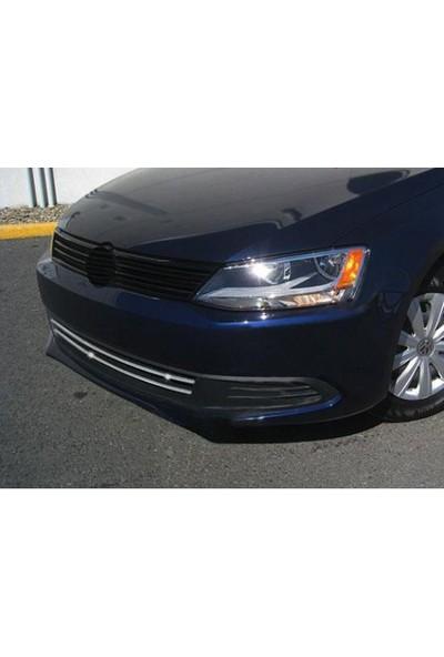 Omsa 7540085 VW JETTA Ön Tampon Çıtası1 Kalite Krom Aksesuar 2011-2014 Arası 2 Parça