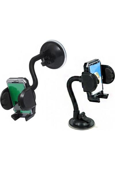 Pratik Araç İçi Telefon Tutucu Holder Güçlü Kilit Vantuzlu Akrobatik Gövde