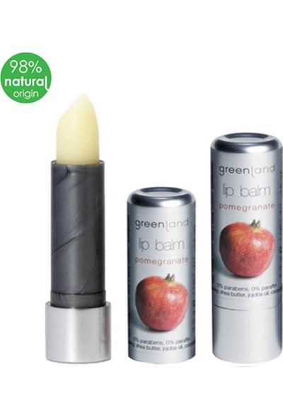 Greenland Lip Balm %0 Paraben Ve Parafin Dudak Kremi Nar 3.9Gr Lipstick
