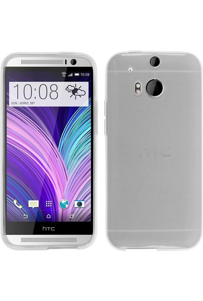 CaseUp HTC One M8 Kılıf İnce Silikon Cam