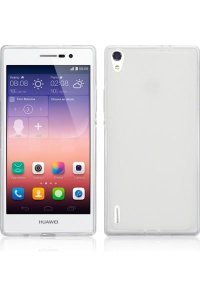 CaseUp Huawei P7 clear Soft Şeffaf kılıf Cam