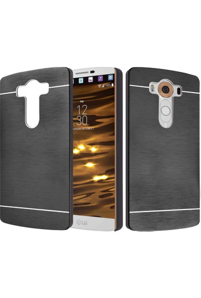 CaseUp LG V10 Kılıf Metal Korumalı Cam