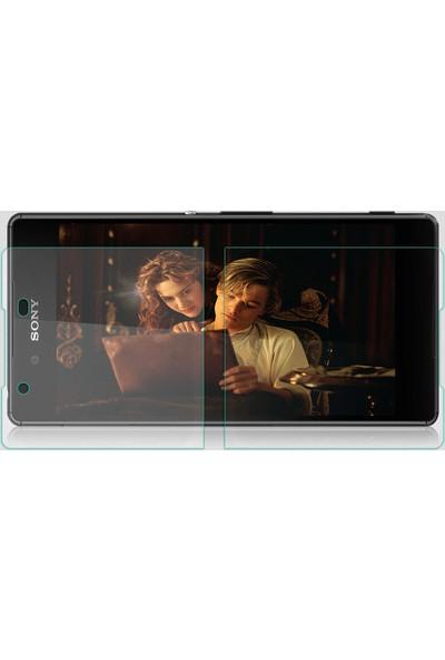 CaseUp Sony Xperia Z3+ Plus Temperli Cam Ekran koruyucu Ön + Arka
