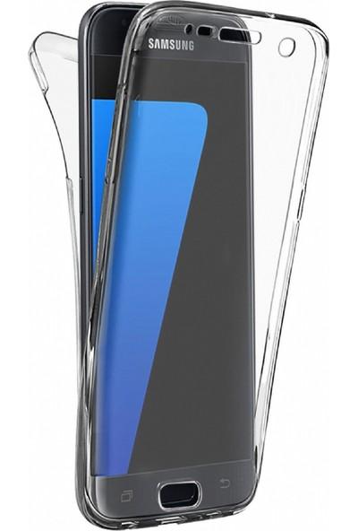 Eiroo Protection Samsung Galaxy S7 Edge 360 Derece Koruma Şeffaf Silikon Kılıf