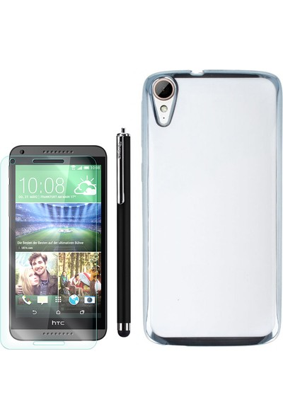Gpack Htc Desire 828 Kılıf Lazer Silikon + Kalem + Cam