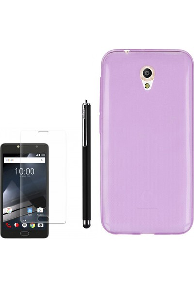 Gpack Vodafone Smart Style 7 Kılıf 0.2Mm Silikon + Kalem + Cam