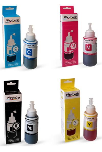 Photo Ink Epson Uyumlu 4 Renk Takım (4X70 Ml) Photoink Mürekkep -/L110/L210/L220/ L300/L310/L355/L365/L550/L565 /L800/L382/L386/L1300/L1800/L3050/L3060/L3070 Uyumu