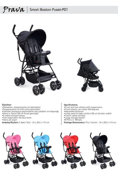 Prava P01 Smart Baston Bebek Arabası - Gri