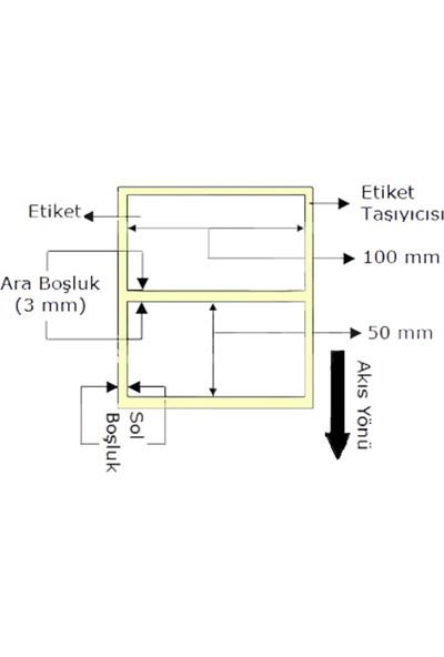 Crea 50 X 100 Kuşe Barkod Etiketi