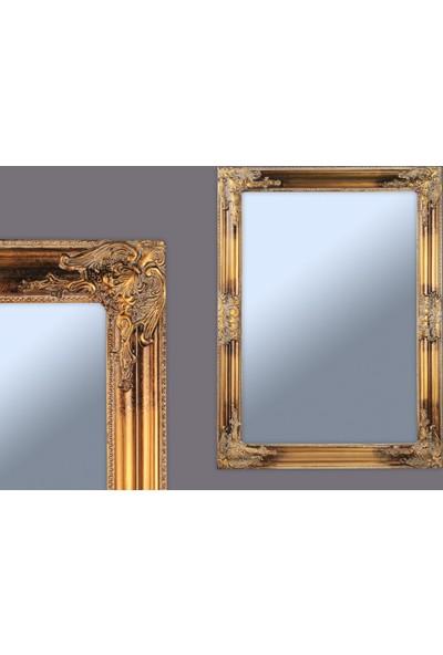 Ancel Antık Altın Ahsap Ayna 48x68Cm