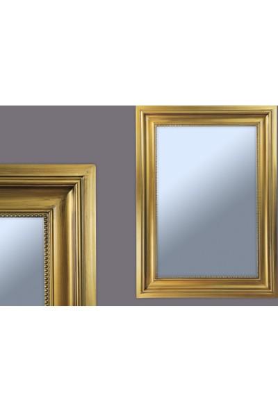 Ancel Antık Altın Ahsap Ayna 60x90Cm