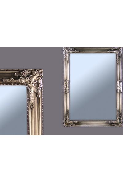 Ancel Antık Gumus Ahsap Ayna 48x68Cm