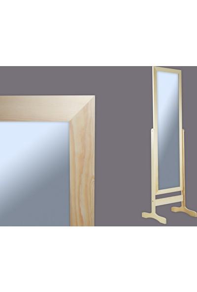 Ancel Ayaklı Naturel Ahsap Ayna 31x116Cm