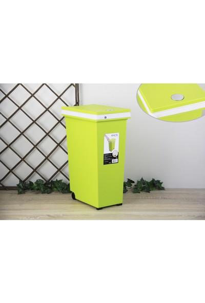 Ancel Dokunmatik Yeşil Çöp Kovası 20Lt