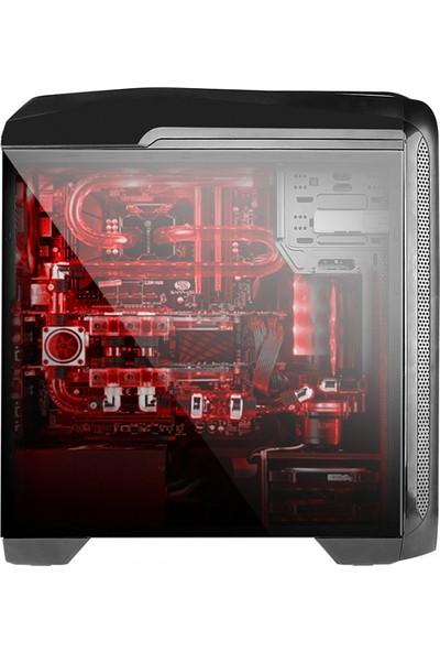 Power Boost Deluxe Serisi VK-G1009B 2xUSB 3.0, 2xUSB 2.0, 3x12cm Kırmızı Led Fanlı, Fan Kontrolcülü, Şeffaf Yan Panelli ATX Kasa JBST-VKG1009B