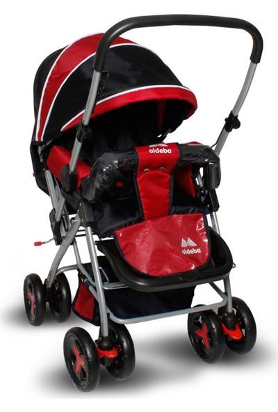 Aldeba 8028B Çift Yönlü Bebek Arabası - Kırmızı