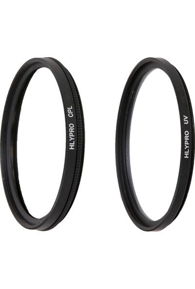 Nikon 18-55mm Lens için HLYPRO UV Filtre + Polarize Filtre