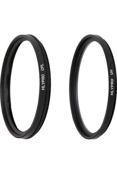 Nikon 24-70mm f/2.8E Lens için HLYPRO UV Filtre + Polarize Filtre