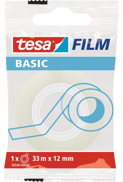 Tesa Basic Film Şeffaf   33m 12mm