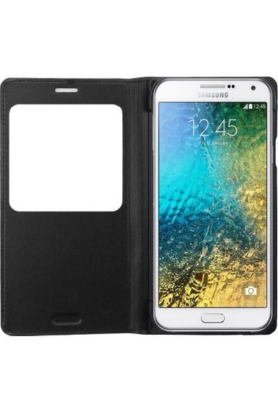 Ally Samsung Galaxy E5 Pencereli Flip Kılıf