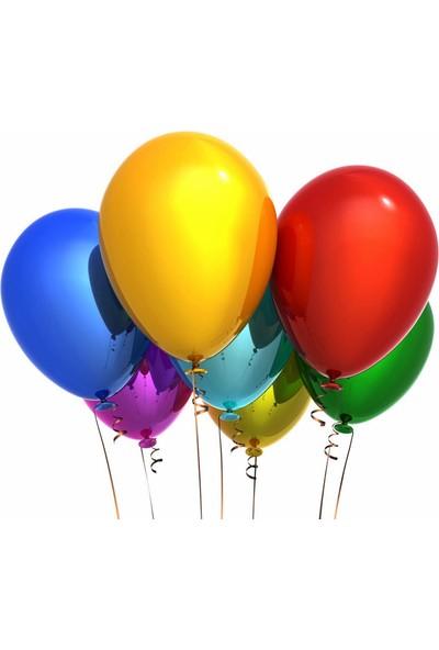 Elitparti Karışık Renkli Metalik Balon 5 Adet