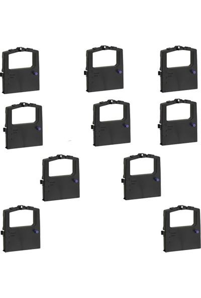 Print Şerit Oki ML 590 + 591 Muadil Şerit 8 + 2 10 Adet Kartuş Nokta Vuruşlu Ekonomik Yazıcı Şeridi
