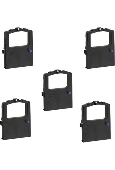 Print Şerit Oki ML 590 + 591 Muadil Şerit 4 + 1 5 Adet Kartuş Nokta Vuruşlu Ekonomik Yazıcı Şeridi