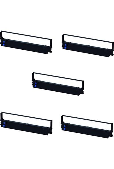Print Şerit Epson LQ 1000 + LQ 1010 + LQ 1050 Muadil Şerit 4 + 1 5 Adet Kartuş Nokta Vuruşlu Ekonomik Yazıcı Şeridi
