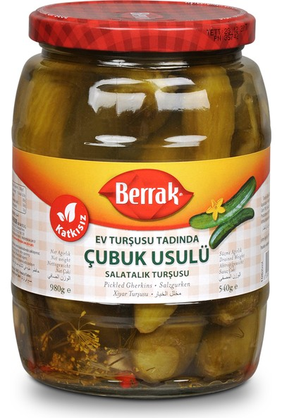 Çubuk Usulü Salatalık Turşusu 6-9 cm 1062 ml Cam