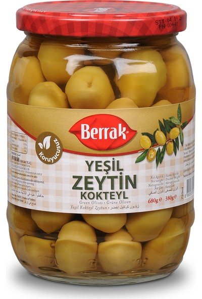 Yeşil Kokteyl Zeytin720 ml Cam