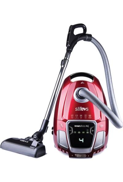 Stilevs Soundless Elektrikli Süpürge - Kırmızı