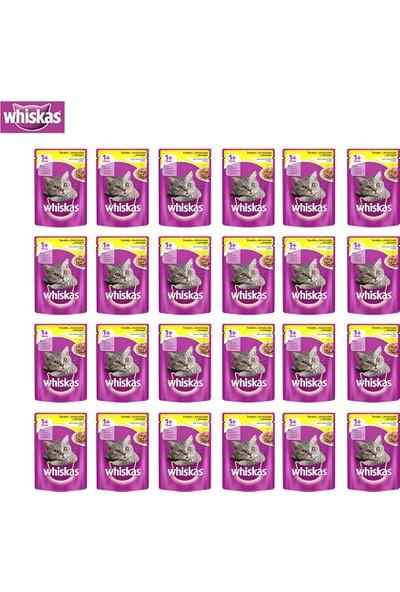 Whiskas Pouch Tavuklu Kedi Maması 100G 24'Lü