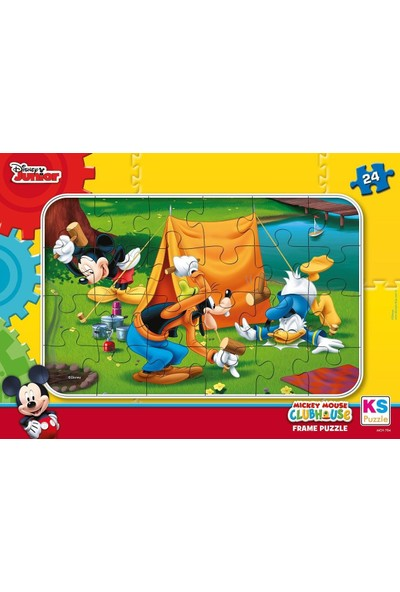 Ks Games Mickey Mouse Ve Arkadaşları 24 Parça Frame Puzzle