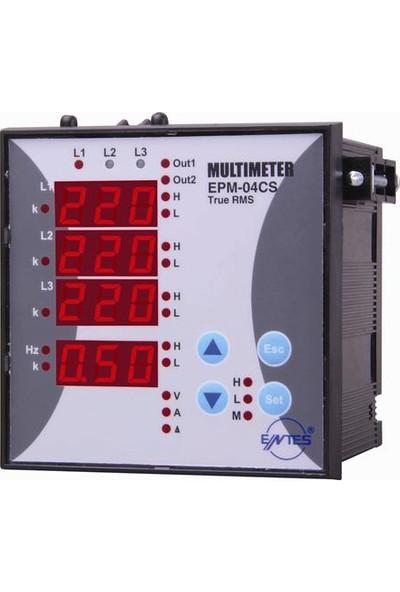 ENTES EPM-04C-96 Multimetre 2 kontak çıkış
