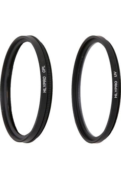 Canon 50mm f/1.8 II Lens için HLYPRO UV Filtre + Polarize Filtre