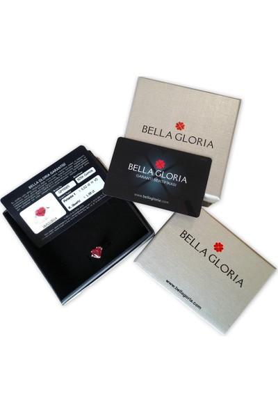 Bella Gloria Ayet El Kürsi Pembe Altın Plaka Kolye (Pp78369)