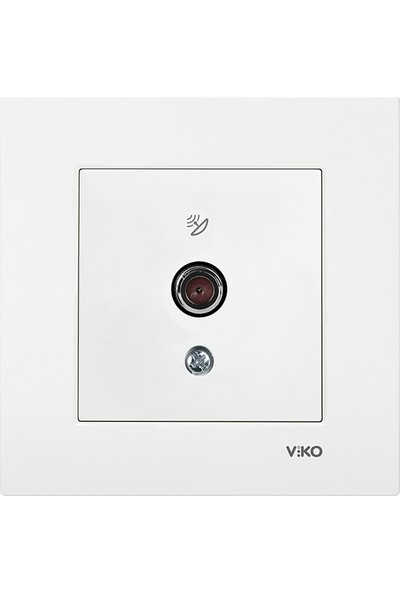 Viko Karre Beyaz Uydu Prizi F Konnektörlü Sonlu (Çerçeveli)