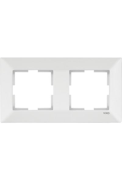 Viko Meridian Beyaz İkili Çerçeve Yatay