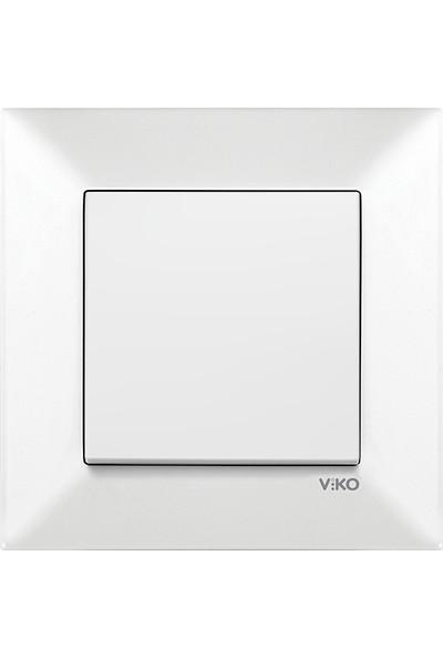 Viko Meridian Beyaz Tekli Anahtar (Çerçeveli)
