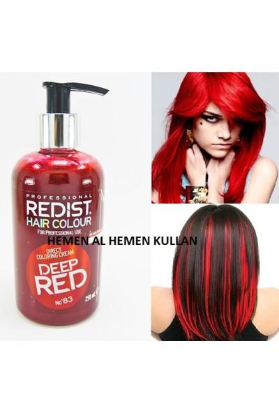 Redist Ateş Kırmızısı Saç Boyası Özel Seri 250.Ml