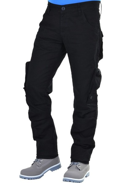 Fomino Erkek Kargo Pantolon - Siyah