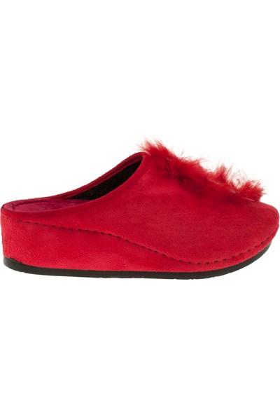 Muya 27949 Mini Feta Kışlık Kırmızı Kadın Terlik