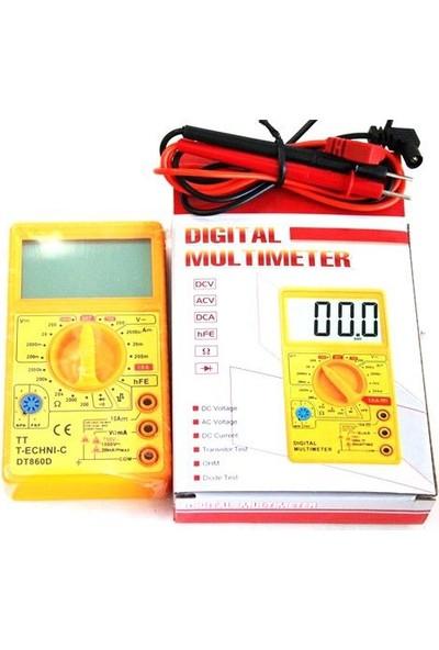 Tt-Technıc Dt-860D Dijital Multimetre Ölçü Aleti