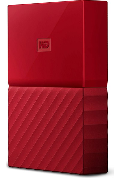 """WD My Passport 2TB2.5"""" USB 3.0 Kırmızı Backup Taşınabilir Disk WDBS4B0020BRD-WESN"""