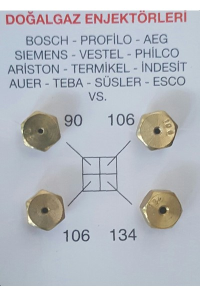 Gm 100 takım Doğalgaz Dönüşüm Enjektörü