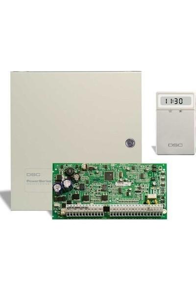 Dsc Pc 1616 Alarm Paneli + Küçük Metal Kabinet + Lcd 5511 Şifre Paneli