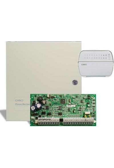 Dsc Pc 1832 Alarm Paneli + Büyük Metal Kabinet + Pk 5516 Şifre Paneli